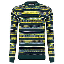Buy Lyle & Scott Fair Isle Crew Neck Jumper, Scotts Green/Multi Online at johnlewis.com