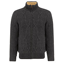 Buy Timberland Merino Cable Zip Jumper, Grey Online at johnlewis.com