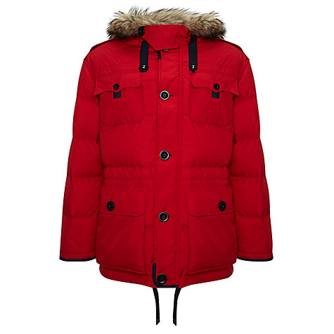 Buy Polo Ralph Lauren Himal Down Parka, Red Online at johnlewis.com