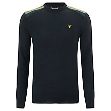 Buy Lyle & Scott Fair Isle Shoulder Wool Blend Jumper, New Navy Online at johnlewis.com
