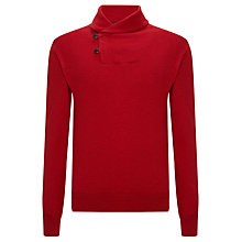 Buy Polo Ralph Lauren Jersey Shawl Neck Top, Red Online at johnlewis.com