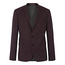 Buy Ben Sherman Tailoring Kings British Tweed Blazer, Red Online at johnlewis.com