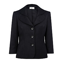 Buy Precis Petite Textured Jacket, Black Online at johnlewis.com