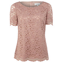 Buy Kaliko Lace T-Shirt, Orange Peach Online at johnlewis.com