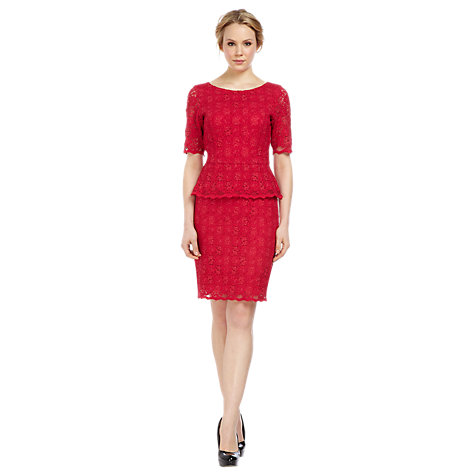 Buy Kaliko Peplum Lace Dress Online at johnlewis.com