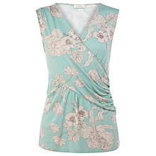 Buy Kaliko Neve Print Wrap Top, Green Online at johnlewis.com