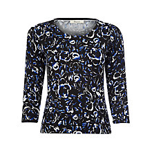 Buy Precis Petite Cutwork Floral Jumper, Black Online at johnlewis.com