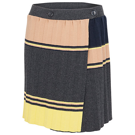 Buy French Connection Madge Knit Pleated Skirt, Charcoal Online at johnlewis.com