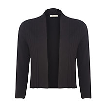 Buy Precis Petite Pleated Detail Shrug, Black Online at johnlewis.com