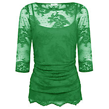 Buy Kaliko Lingerie Lace Top, Green Online at johnlewis.com