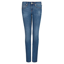 Buy Mango Super Slim Fit Jeans, Medium Blue Online at johnlewis.com