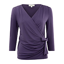Buy Kaliko Wrap Top, Purple Online at johnlewis.com