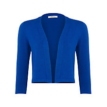 Buy Precis Petite Knitted Shrug, Electric Blue Online at johnlewis.com