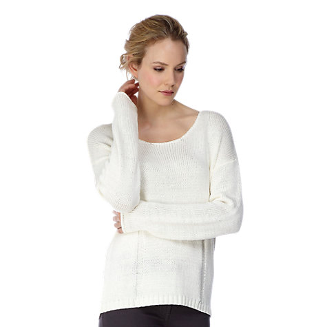 Buy Kaliko Drop Stitch Top, Neutral Online at johnlewis.com