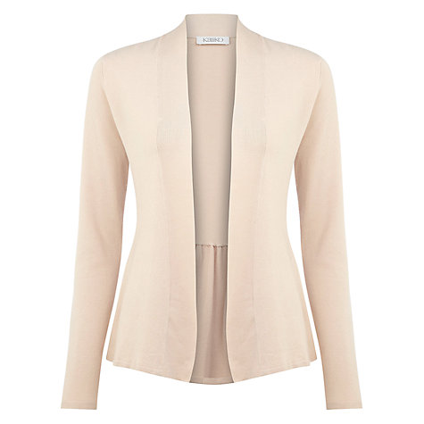 Buy Kaliko Gathered Cardigan, Orange Peach Online at johnlewis.com