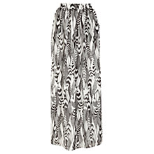 Buy Warehouse Feather Print Maxi Skirt, Multi Online at johnlewis.com