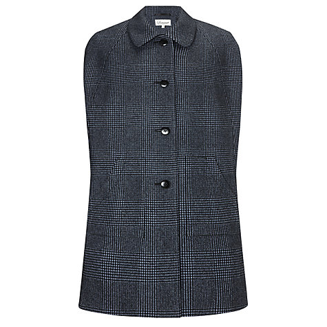 Buy Somerset by Alice Temperley Houndstooth Cape, Black/Blue Online at johnlewis.com