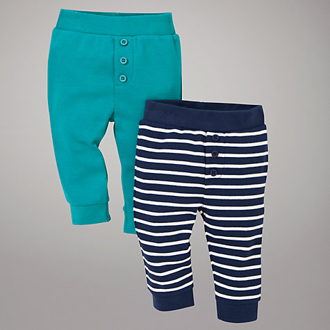 Buy John Lewis Baby Legging Trousers, Pack of 2, Aqua/Blue Online at johnlewis.com