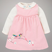 Buy John Lewis Baby Singing Bird Corduroy Pinafore Set, Pink/Multi Online at johnlewis.com