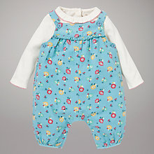 Buy John Lewis Baby Floral Print Corduroy Dungaree Set Online at johnlewis.com