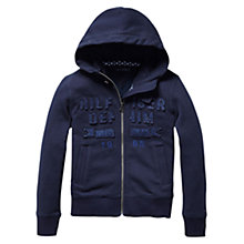 Buy Tommy Hilfiger Boys' Avenue Zip Through Hoodie, Navy Online at johnlewis.com