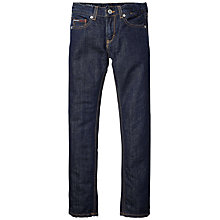 Buy Tommy Hilfiger Boys' Clyde Slim Fit Jeans, Dark Denim Online at johnlewis.com