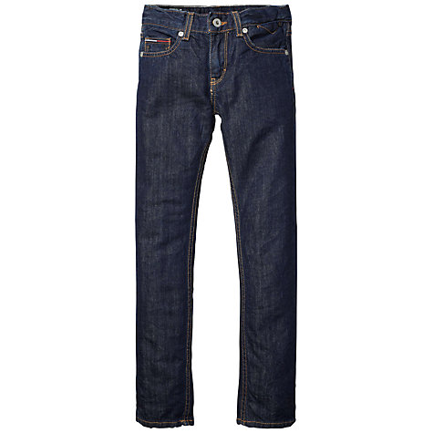 Buy Tommy Hilfiger Boys' Clyde Slim Fit Denim Jeans, Dark Denim Online at johnlewis.com
