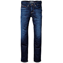 Buy Tommy Hilfiger Boys' Clyde Raw Blue Denim Jeans, Blue Online at johnlewis.com