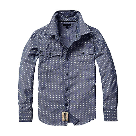 Buy Tommy Hilfiger Boys' Star Chambray Shirt, Blue Online at johnlewis.com
