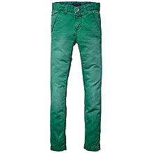 Buy Tommy Hilfiger Boys' Freddie Chino Trousers, Green Online at johnlewis.com