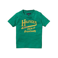 Buy Tommy Hilfiger Boys' Broadway Short Sleeve T-Shirt, Green Online at johnlewis.com