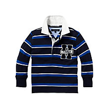 Buy Tommy Hilfiger Boys' Long Sleeve Rugby Shirt, Navy Online at johnlewis.com