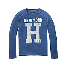 Buy Tommy Hilfiger Boys' Fever Long Sleeved Top, Blue Online at johnlewis.com