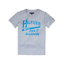 Buy Tommy Hilfiger Boys' Broadway T-Shirt, Grey Online at johnlewis.com