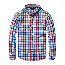 Buy Tommy Hilfiger Boys' Limoges Long Sleeve Check Shirt, Multi Online at johnlewis.com