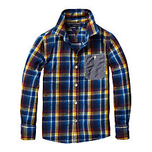 Buy Tommy Hilfiger Boys' Bookworm Long Sleeved Check Shirt, Blue/Yellow Online at johnlewis.com