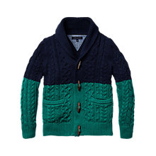 Buy Tommy Hilfiger Boys' Olson Shawl Cardigan, Navy/Green Online at johnlewis.com