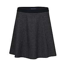 Buy French Connection Polka Dot Flared Skirt, Black White Dot Online at johnlewis.com