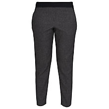 Buy French Connection Pop Trim Trousers, Black / White Online at johnlewis.com