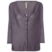 Buy White Stuff Petaline Cardigan, Mulberry Purple Online at johnlewis.com