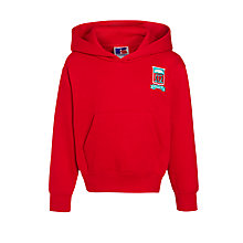 Buy Moorfield School Unisex Hooded Sweatshirt, Red Online at johnlewis.com