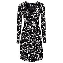 Buy French Connection Hatched Horses Long Sleeve Jersey Dress, Black Online at johnlewis.com