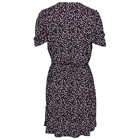 Buy French Connection Marble Meadow Dress, Autumn Prune/Multi Online at johnlewis.com