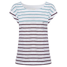 Buy White Stuff Betty Striped T-Shirt, Duck Egg Online at johnlewis.com