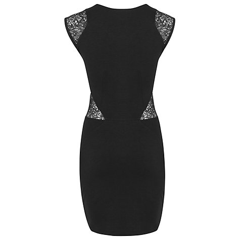 Buy French Connection Vienna Lace Dress, Black Online at johnlewis.com