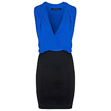 Buy French Connection Zoe Dress, Electric Blue / Black Online at johnlewis.com