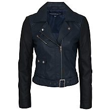 Buy French Connection Athena Jacket, Nocturnal/Black Online at johnlewis.com
