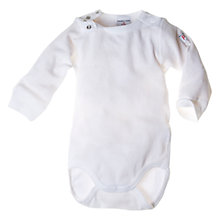 Buy Polarn O. Pyret Organic Cotton Bodysuit, White Online at johnlewis.com