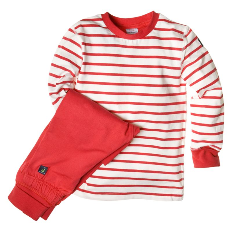 Polarn O. Pyret Striped Pyjamas, Poppy