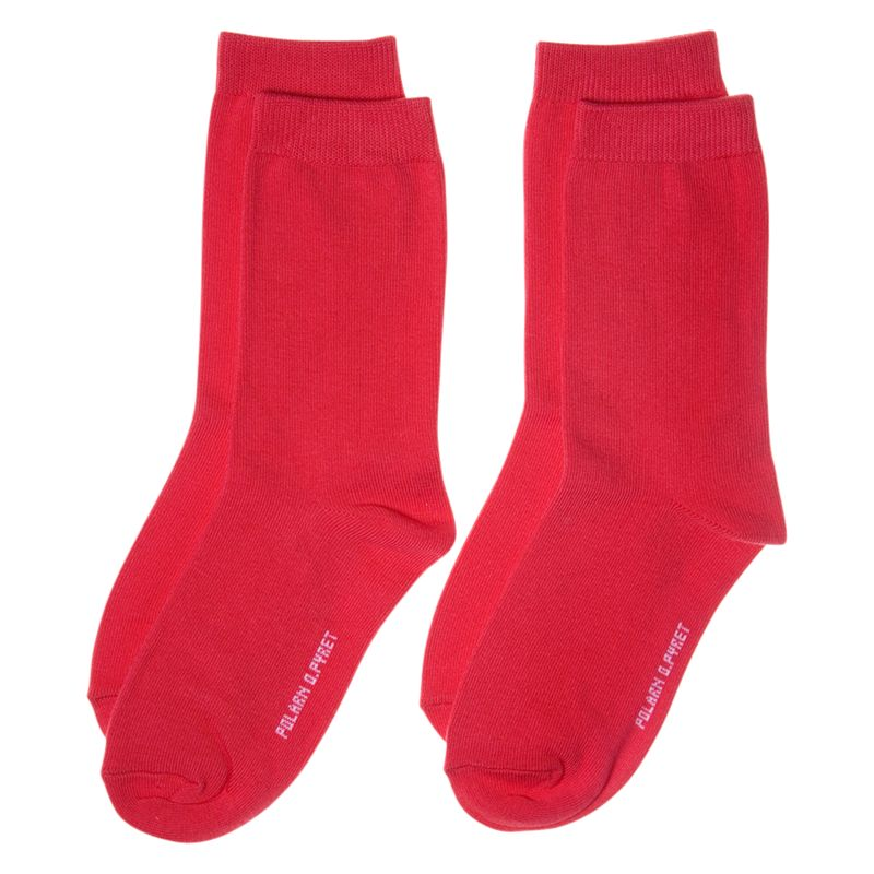 Polarn O. Pyret Plain Socks, Pack of 2, Red